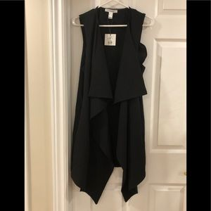 Revamped long duster vest NWT